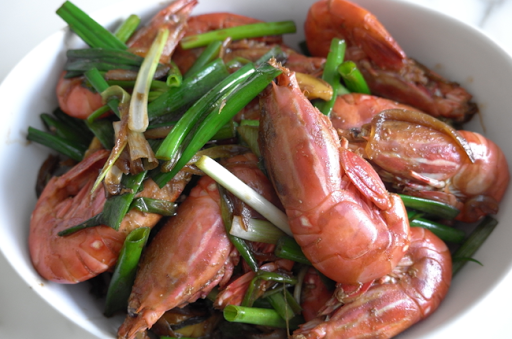 BC Spot Prawns w/Ginger, Scallion & Soy