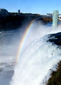 1510099 Oct 23 Rainbow Going Over The Falls