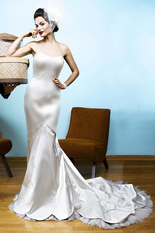 My dress is a modern vintage art deco style.
