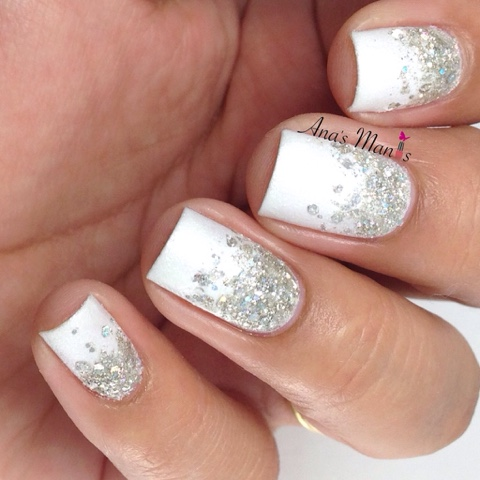 Its A Super Simple Glitter Gradient Over White Base I Think The Perfect Amount Of Sparkle For Wedding This Is Probably What Would Wear When