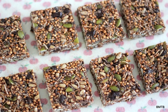 Puffed Quinoa Bars - recipe by Baking Makes Things Better