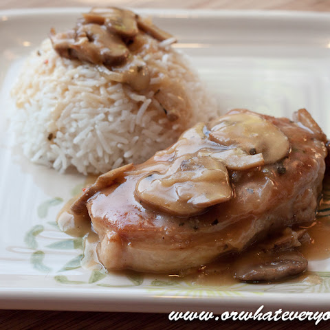 Baked Pork Chops with Mushroom Pan Gravy