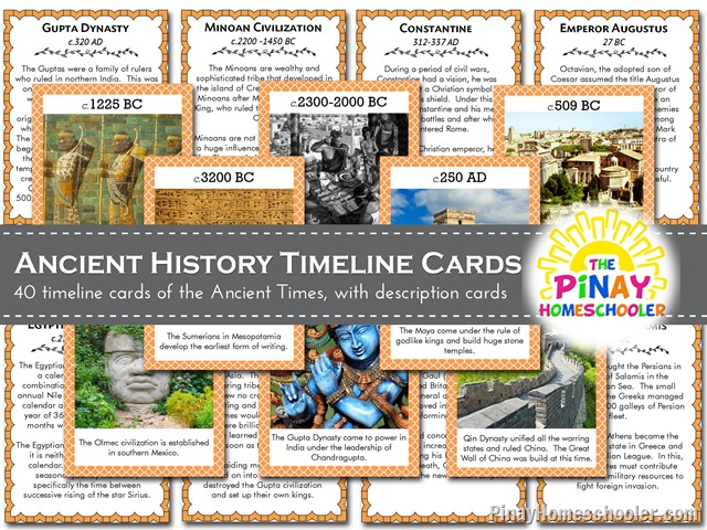Anicent History Timeline Cards copy