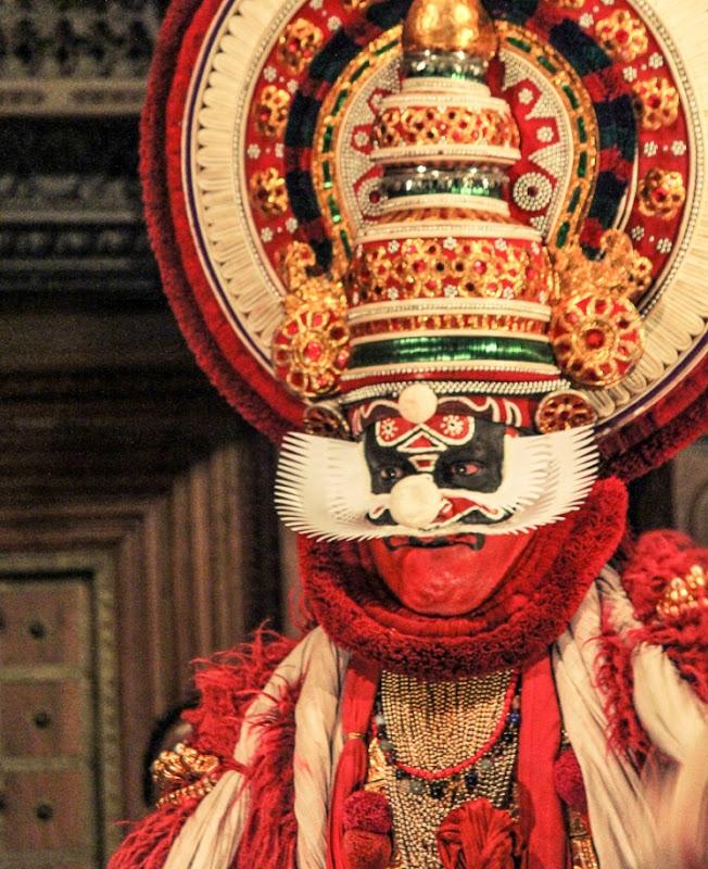 Kathakali dancer representing evil