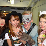 Japanese girls on the Halloween Boat Cruise in Tokyo in Tokyo, Tokyo, Japan