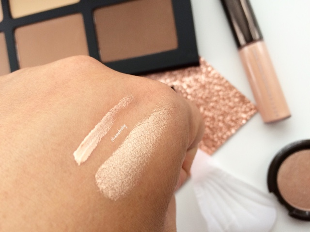 swatch of Becca Shimmering Skin Perfector opal NC40