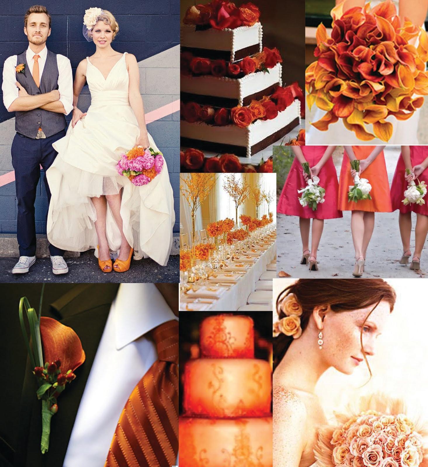 fall color wedding