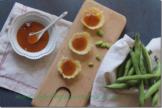 confettura di kiwi e peperone su coppettine di pecorino 009