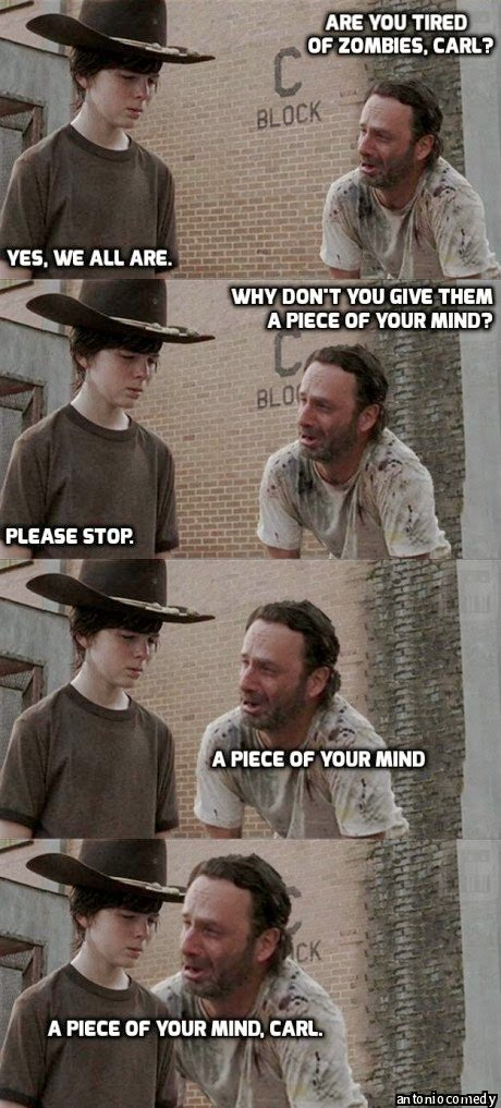 Bad jokes + TWD, continued