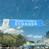 Cruzando a fronteira Colômbia com o Equador