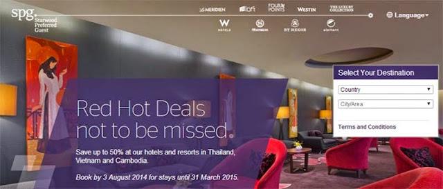 泰國、越南及柬埔寨酒店優惠,Sheraton喜來登、Westin威斯汀、Le Méridien艾美酒店、W Hotel、St. Regis瑞吉酒店等,低至5折!