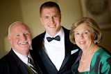 Pat, Sandy and the handsome groom