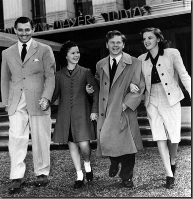 Clark Gable Shirley Temple, Mickey Rooney Judy Garland