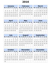 генератор календарей онлайн