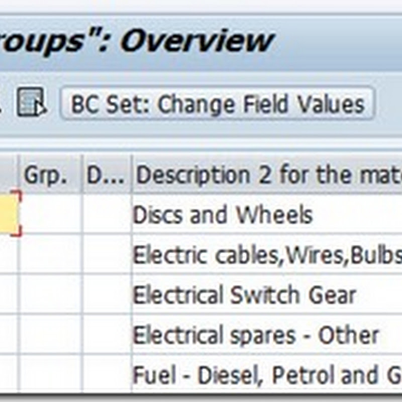 Define Material Groups