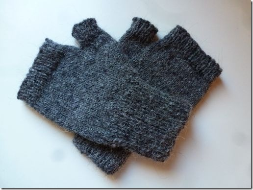Grey Fingerless Mitts