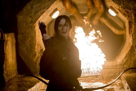 Jennifer Lawrence in The Hunger Games Mockingjay Part 2
