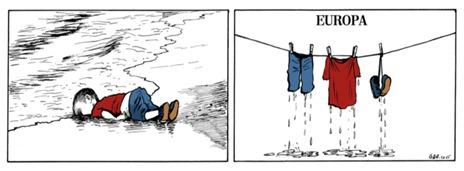 Niño refugiado muerto