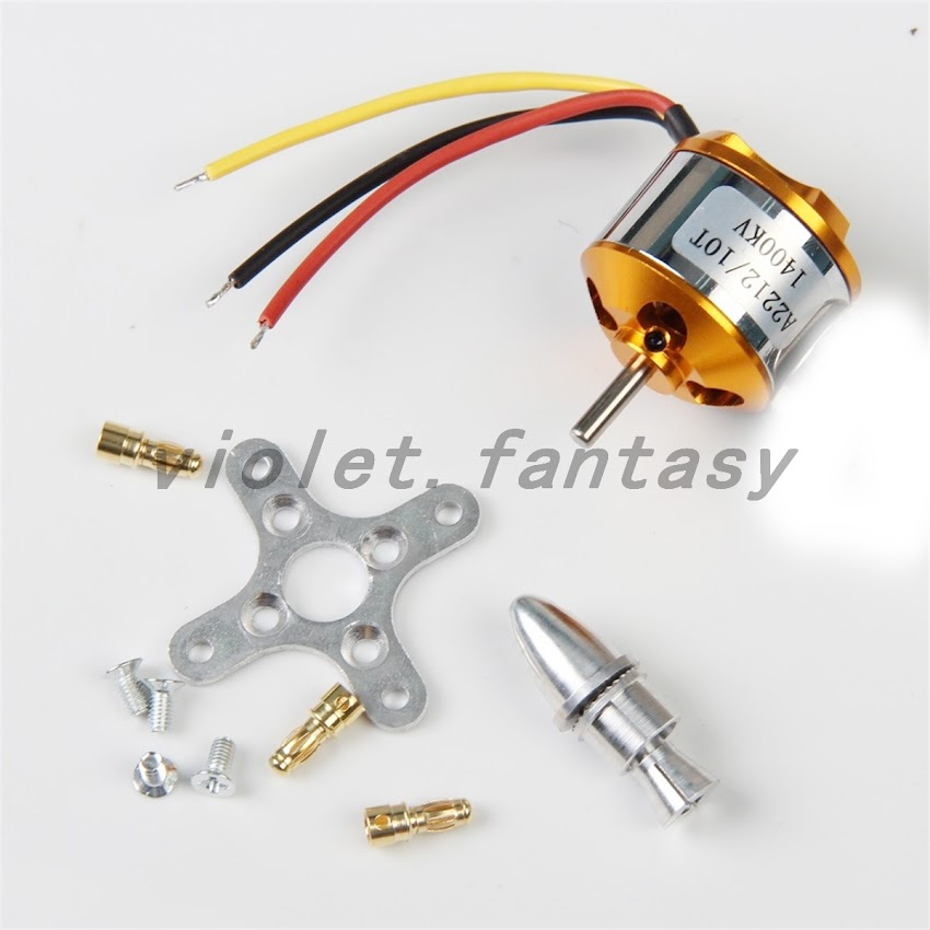 Brushless Electric Motor A2212 Kv1400 Rc Multirotor