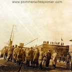Marshal Hindenburg visiting flying station at Zeebrugge