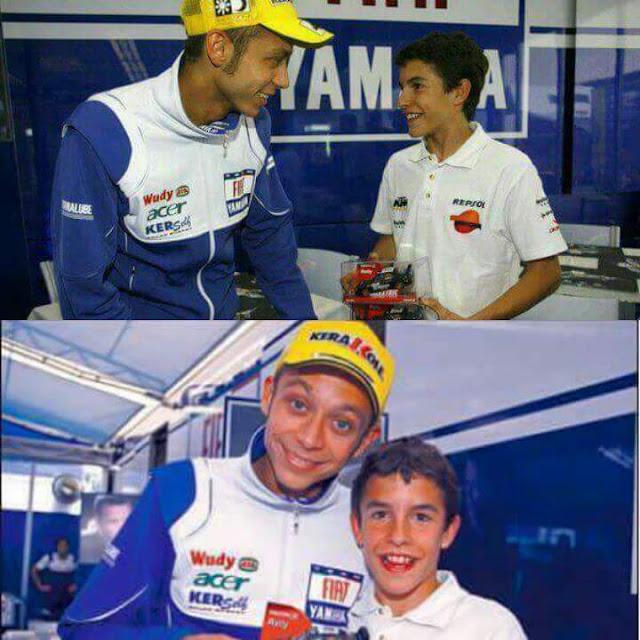 Foto JADUL Rossi dan Marquez Berdua