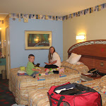 Bryan and Lori in our room at the All Star Music Resort in Disney 06102011