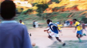 Playing soccer in Tana.