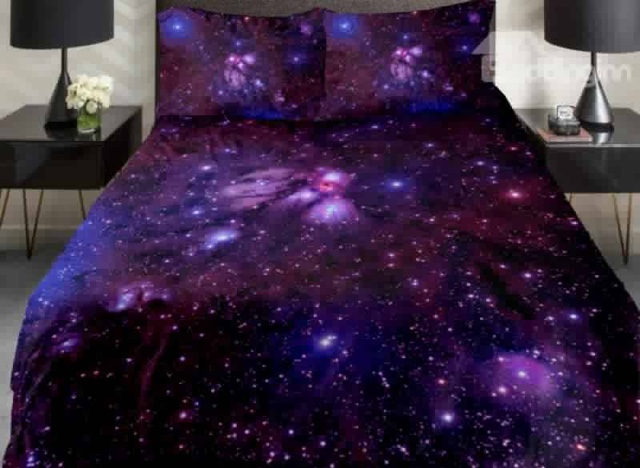 Spectacular http beddinginn product Amazing Shining Purple Galaxy Print Piece Duvet Cover Sets html