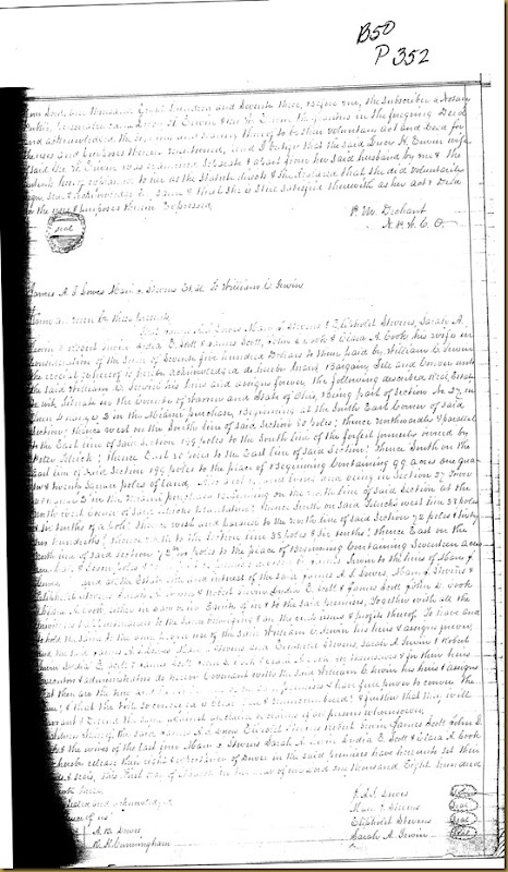 Lucy H. Erwin and George W. Erwin signed deed in 1873