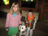 Hannah and Bryan with an Anheuser-Busch dalmation at the Anheuser-Busch Brewery in St Louis 03192011