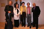 Thomas Kirchhoff, Dale Kavanagh, Cristina Sánchez Rivas (Directora Técnica), José Luis Ruiz del Puerto (Director Artístico) y Juan Grecos, Presidente de Amigos de la Guitarra
