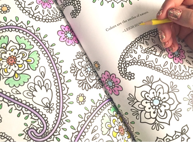 Keep Calm and Color On adult coloring book