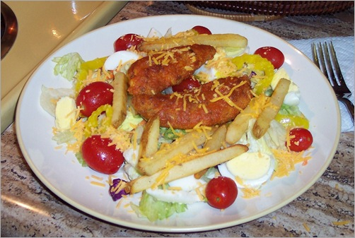 buffalo tenders salad