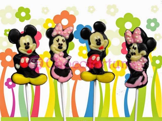 Cokelat coklat Lolipop Disney Mickey Minnie Mouse