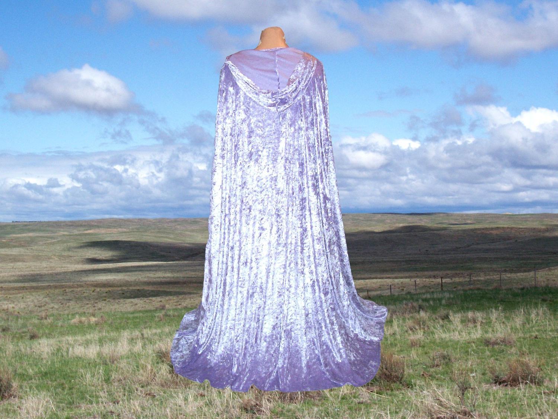 Cloak Cape Lavender Velvet