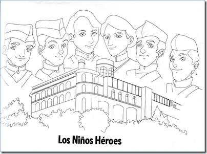 LOS NIÑOS HÉROES PARA COLOREAR | Colorear dibujos infantiles