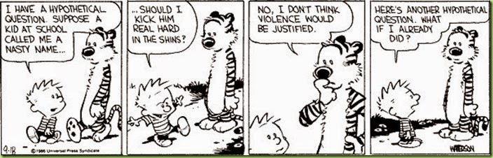 calvin and hobbes hypothetical