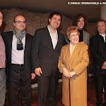 Los guitarristas junto a Dª Rosa Gil Bosque, la primera mujer catedrática de guitarra en Valencia, discípula directa de Pepita Roca que a su vez lo fue de Francisco Tárrega.