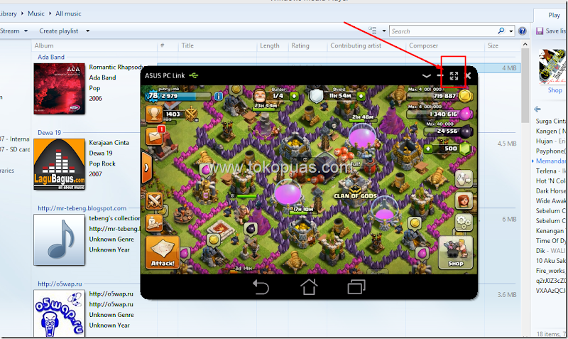 trik bermain clash of clans di komputer