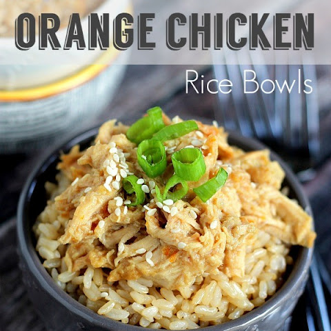 TSlow Cooker Orange Chicken & Rice Bowls