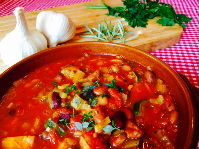 Tuscan bean soup with thyme and rosemary