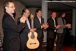 Al finalizar el concierto, José Luis Ruiz Del Puerto, Ruben Parejo, Carlos Jaramillo, Jorge Orozco y David Eres Brun.
