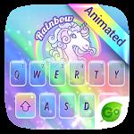 Rainbow Unicorn GO Keyboard Animated Theme Icon