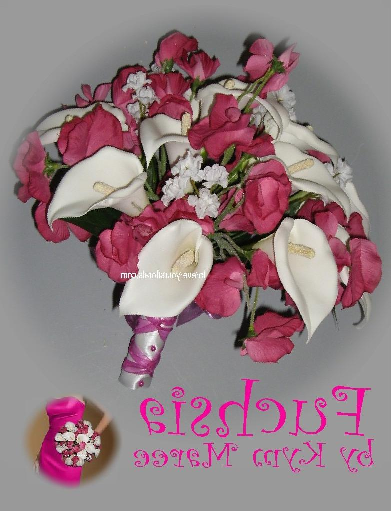 and pink wedding bouquets