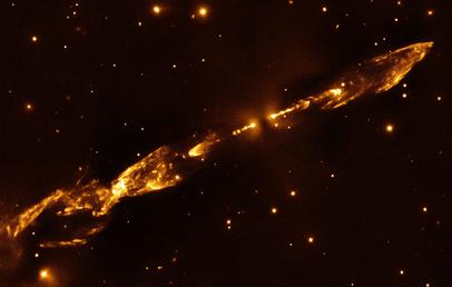 explosões de uma estrela recém-nascida