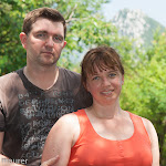 Vera und ich während der Wanderung / Вера и я во время прогулки