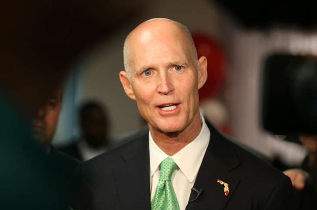 Florida Governor Rick Scott on 23 January 2015, in Miramar, Florida. Photo: Joe Raedle / Getty Images