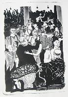 Dej BAO. 076 . Un Chemin dans la Pierre . 1978 .Lithographie . 55 x 36,5 cm