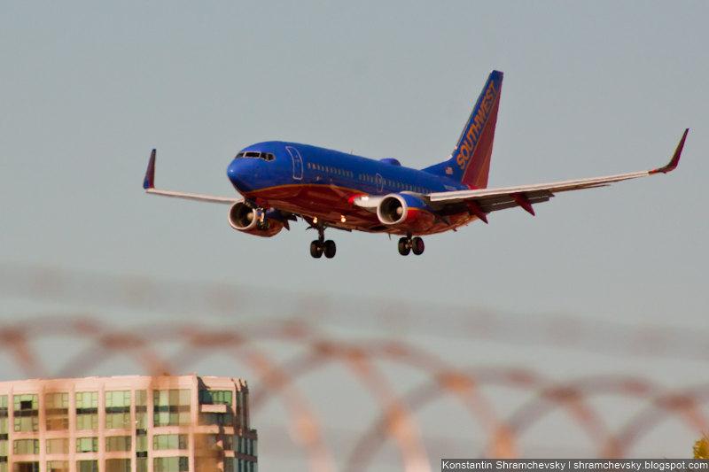 USA California San Diego Internagional Airport Lindbergh Field Southwest Boeing 737 США Калифорния Сан-Диего Международный Аэропорт Линдберг Филд поле СаусВест Боинг 737