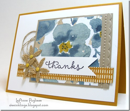 LeAnne Pugliese WeeInklings Cottage Greetings Thank You Stampin Up